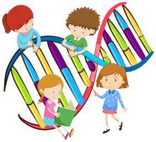 Barn och mänskligt DNA vektor