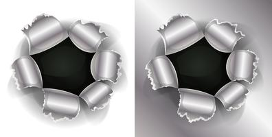 Kugel und Schrotflinte Loch vektor