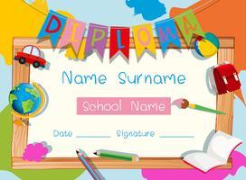 Certifikatmall med skolmaterial