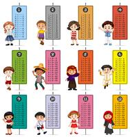 Glückliche Kinder und Zeitstempel vektor