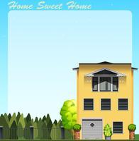 Zuhause süßes Zuhause am Tag vektor