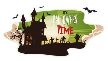 Halloween Rauch Hintergrund vektor