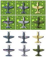 Olika utformningar av militära flygplan