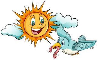 Sonne und Vogel vektor