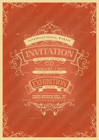 Retro roter Einladungshintergrund