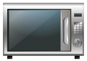 Mikrowellenherd auf weißem Hintergrund