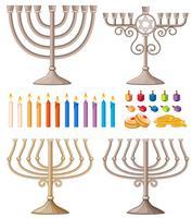 Kerzen und Halter in verschiedenen Ausführungen vektor