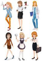 Kvinnor med olika yrken