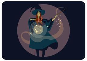 Zauberer-Mädchen-Vektor vektor