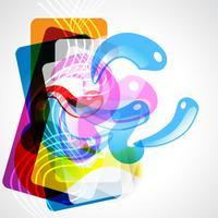 abstrakt grafisk stil vektor