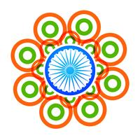 Vektor kreative indische Flagge Design mit Kreisen
