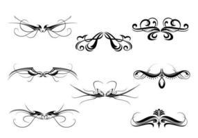Symmetrischer dekorativer Verzierungs-Vektor-Satz