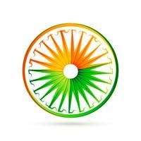 indisches Flaggenraddesign mit Tri Farben