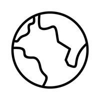 Erde Linie schwarzes Symbol