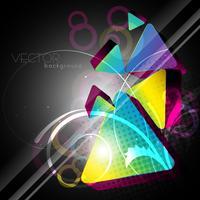 3d vektor form bakgrund