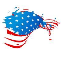 kreative amerikanische Flagge vektor