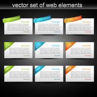 vektor uppsättning av webelement