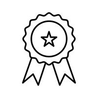 Medallinie schwarze Ikone vektor