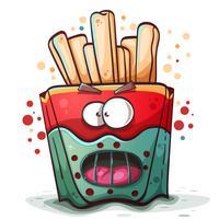 Patatohannibal-Zeichentrickfiguren, Horror und Angst vektor