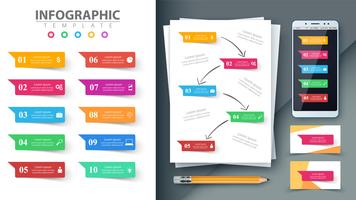 Geschäftsinfografik. Modell für Ihre Idee. vektor