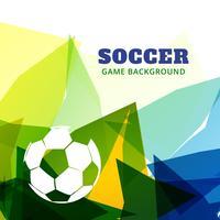 abstraktes Fußballspieldesign