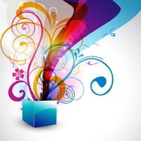 schöne Geschenkbox vektor