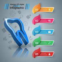 Geschäft Infografiken. Zahn-Symbol vektor