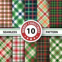Klassisk tartan, Picknickduk, Gingham, Buffalo, Lamberjack, God julklappsplatta sömlösa mönster. vektor