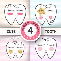 Netter Zahn - medizinisch, Gesundheitsillustration.