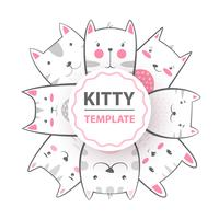 Niedlich, cool, hübsch, lustig, verrückt, schöne Katze, Miezekatze