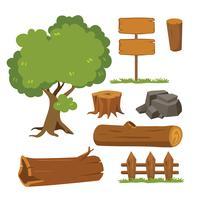 Baumvektor-Sammlungsdesign