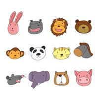 Tiere Kopf Charakter Design