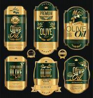 Retro-Label-Sammlung von Olivenöl