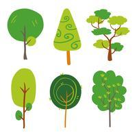 träd vektor samling design