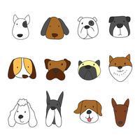 Tiere Kopf Charakter Design vektor