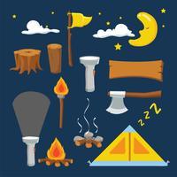 läger vektor samling design