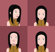 Set bunte Avatare von Zeichen vektor