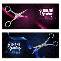 Grand Opening Banner gesetzt vektor