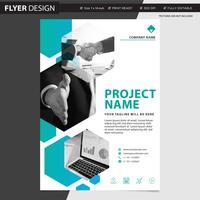 Professionell flygblad eller broschyrkonceptdesign, abstrakt vektor illustration
