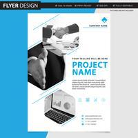 Flyer eller broschyr professionell vektor design, abstrakt tidskriftsomslag katalog illustration