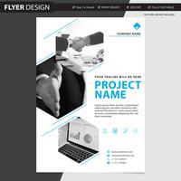 Flieger- oder Broschürenberufsvektordesign, abstrakte Zeitschriftenabdeckungs-Katalogillustration vektor