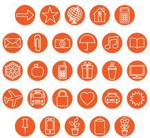 orange ikonuppsättning vektor