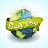 Glückliche Tag der Erde-Feiertags-Fahne