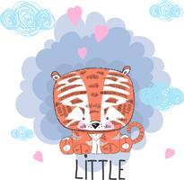 Söt bebis tiger