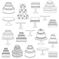 Kuchen Digital Briefmarken Clipart