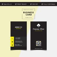 Modernt färgstarkt kreativt visitkort och namnkort, vertikal enkel ren mall vektor design