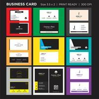 Kreative Visitenkarte und Visitenkarte der modernen Art, doppelter mit Seiten versehener Druck des horizontalen einfachen sauberen Schablonenvektordesigns bereit