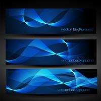 blaue abstrakte Fahne des Vektors stellte 4 ein vektor