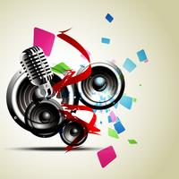 abstrakter Musikhintergrund vektor
