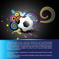 abstrakter Fußball vektor